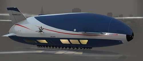 因此,飞艇既可以停降在飞机跑道上,也可以停在任何开放的空地上,只要